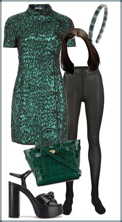 NYC Gal- Green Mini Dress