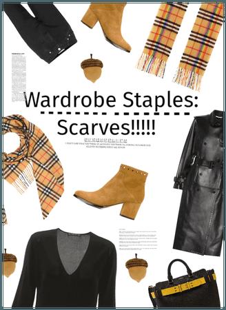 My Wardrobe Staples: Scarves + Leather jacket