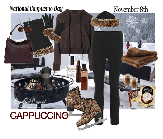 National Cappucino Day outfit (ice skating)