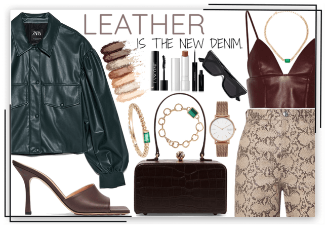 Leather is the new denim.