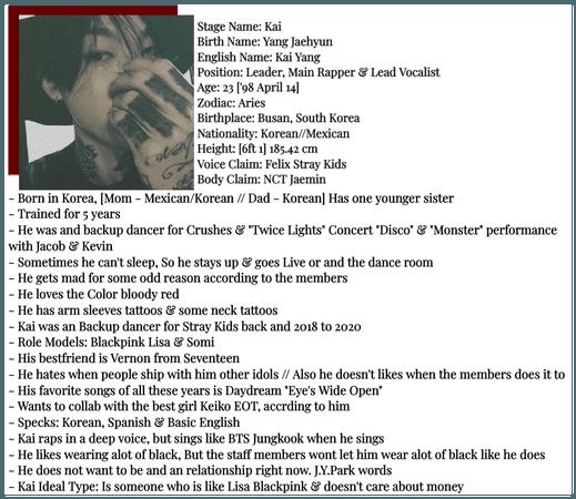 SECRET CØDE [Kai] Profile