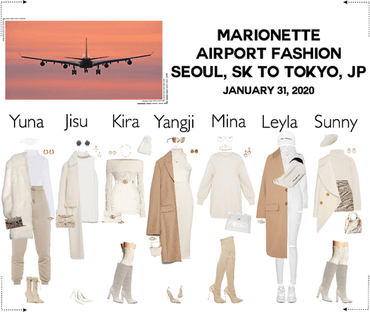 MARIONETTE (마리오네트) Airport Fashion | Seoul, Sk To Tokyo, Japan