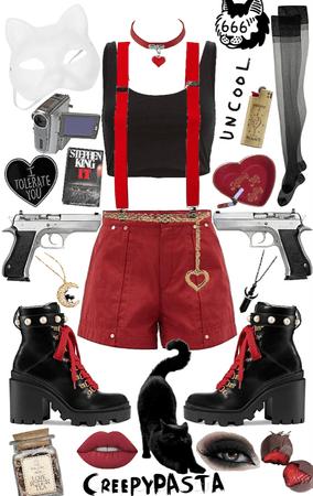 creepypasta: OC black cat outfit 3