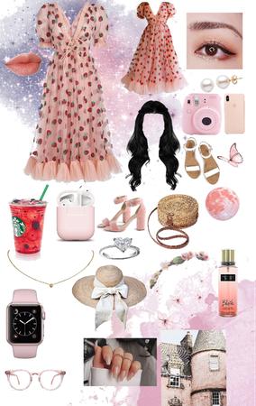 Pink Strawberry Girl