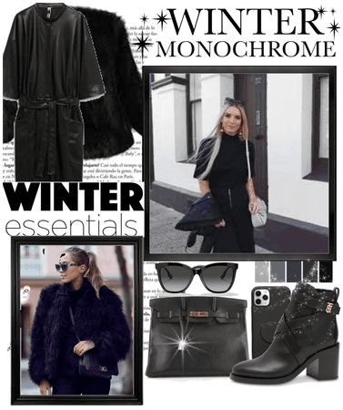 Black winter monochrome