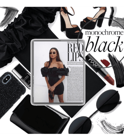Black with a hint of red ^ALL BLACK MONOCHROME^