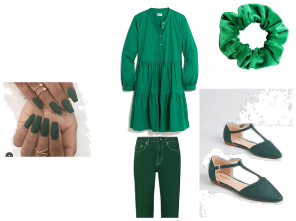 green oufit-color of the rainbow oufit #4