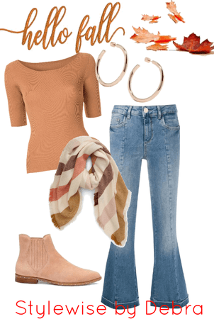 Casual Fall: Flared Jeans