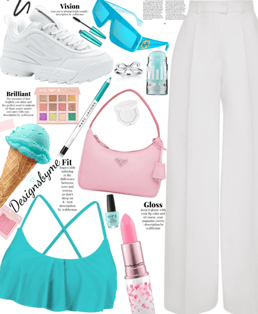 pink and turquoise 💕