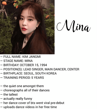 HEARTBEAT MINA PROFILE