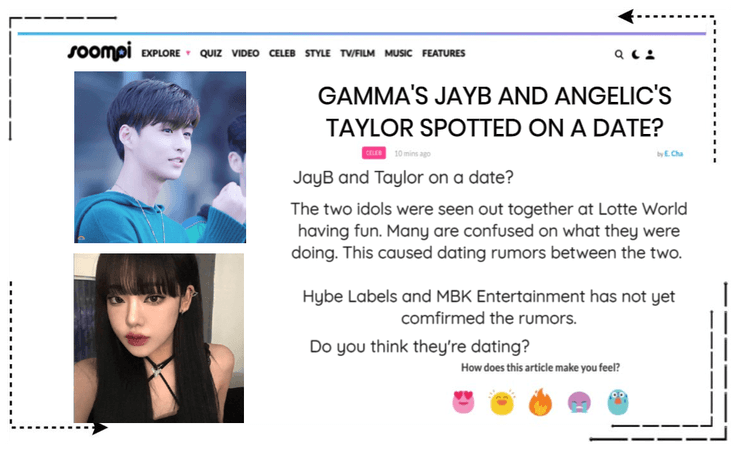 Soompi Article About Taylor & JayB
