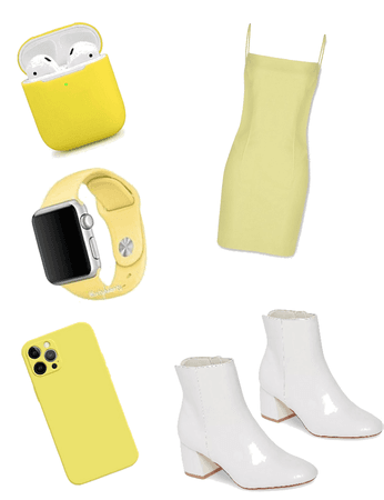 casual pastel yellow
