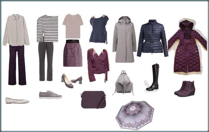 Базовый гардероб Лилово-сине-серый