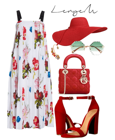 Red&floral