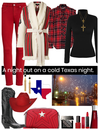 A night out on a cold Texas night