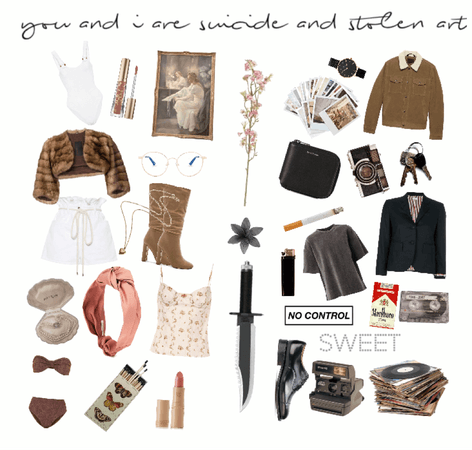 Bonnie & Clyde Inspired Moodboard