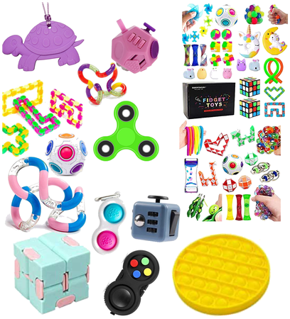 Wut i got for my buwtday fidjet toys 🧸