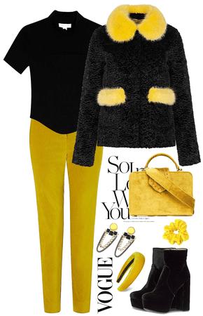 Yellow Velvet Pants