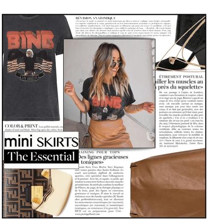 Fashion File: Beige Mini Skirt & Vintage Graphic Tee - Contest