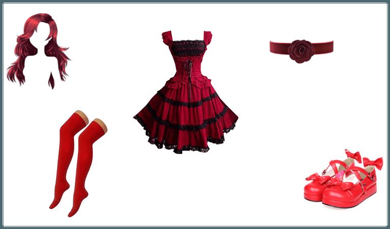 Skarlett's gothic lolita fashion
