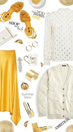 Summer Gold Satin Skirt