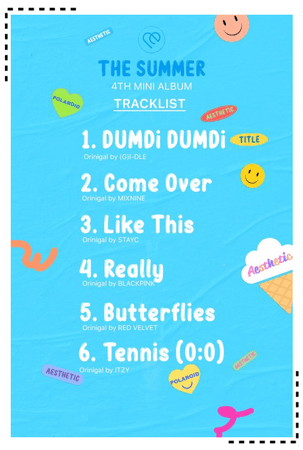AESTHETIC (미적) 'THE SUMMER' Tracklist
