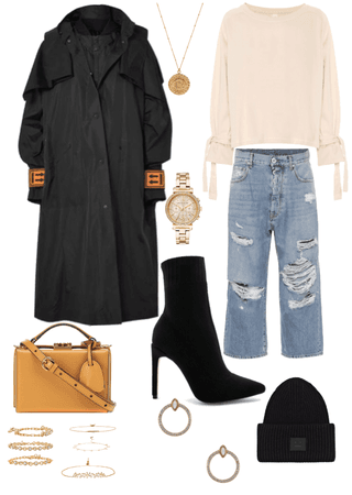 warm trendy winter outfit