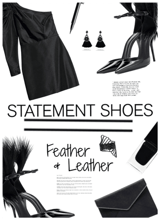 Staement Piece-Shoes  Feather & Leather