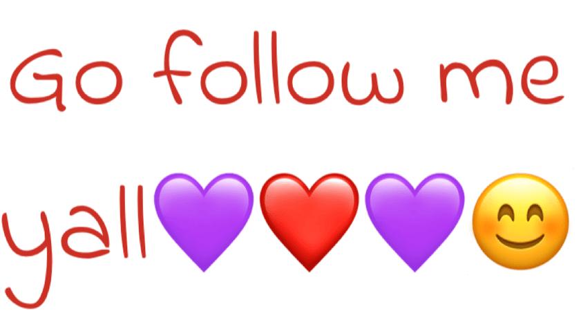 go follow me 💜