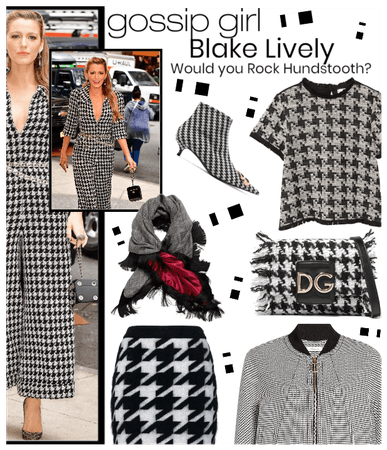 Blake Lively Hounds-tooth Trend