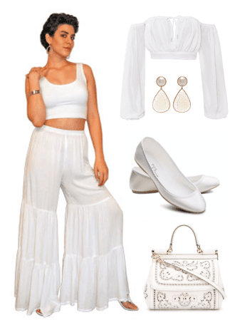 Tribal Tiered Pants Outfit