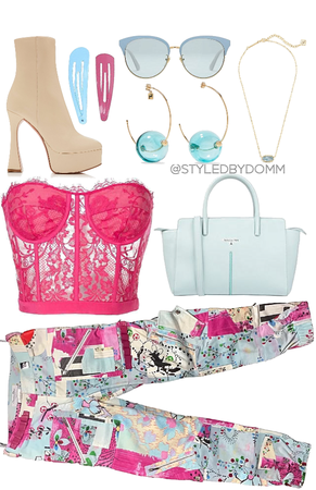 Hot Pink & Baby Blue