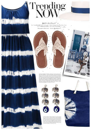 Navy tie dye