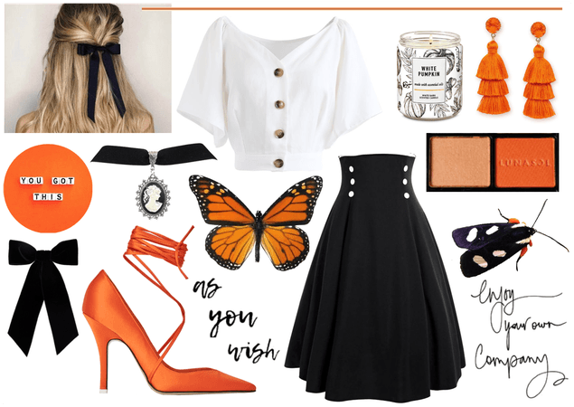 Pop of Orange Outfit