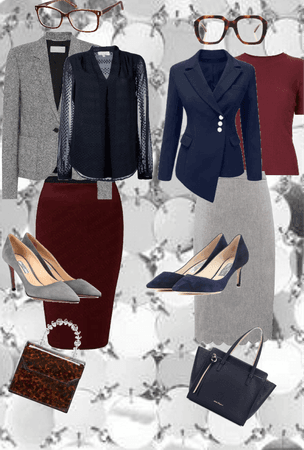 Work Wear w/ Gray, Navy & Cranberry