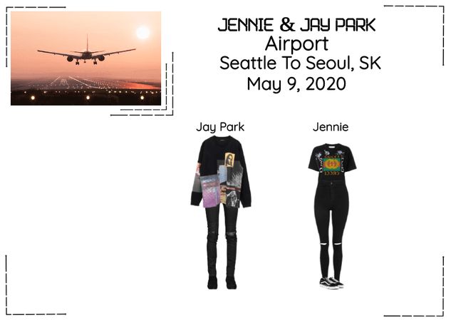 Jay Park & Jennie Airport Seattle To Seoul, SK