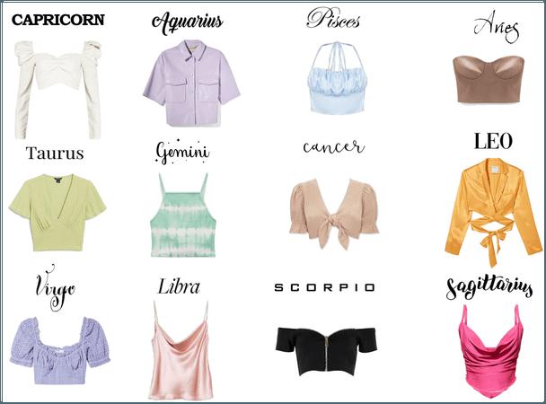 zodiac signs: spring tops