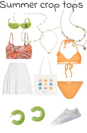 Summer crop tops 😌