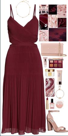 Maroon Red + Blush Pink