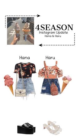 "-4SEASON- Instagram Update ""Hana & Haru"""