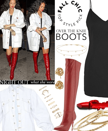 Rihanna over the knee boots