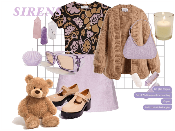 Purple and tan fit