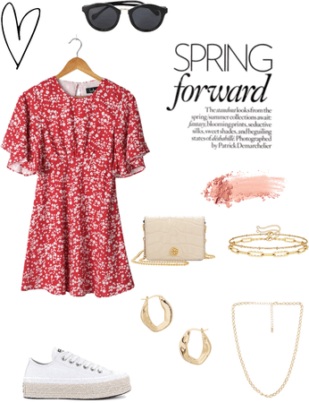 spring coffee date outfit