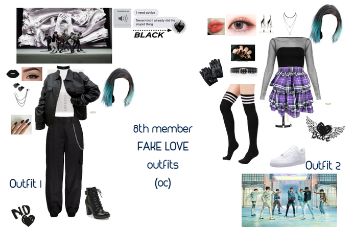 FAKE LOVE outfits (8th member oc) BTS