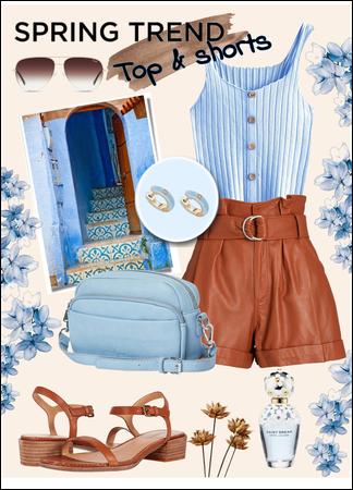 Top + shorts