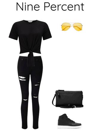 Nine Percent black outfit