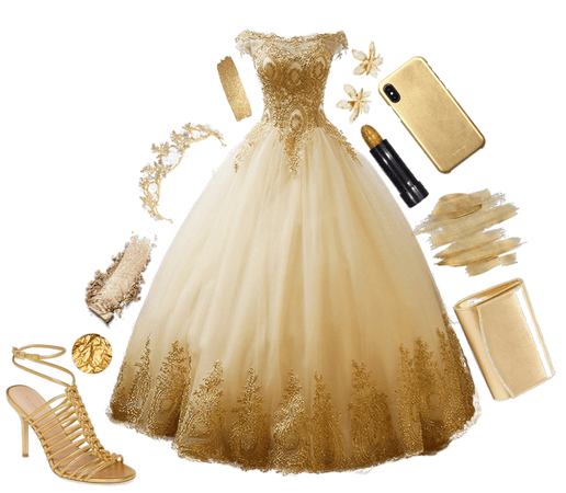 Gold Outfit  1000 Likes!
