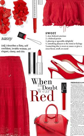 when in doubt wear red