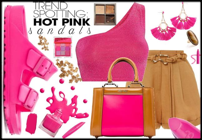 Trending Hot Pink sandals