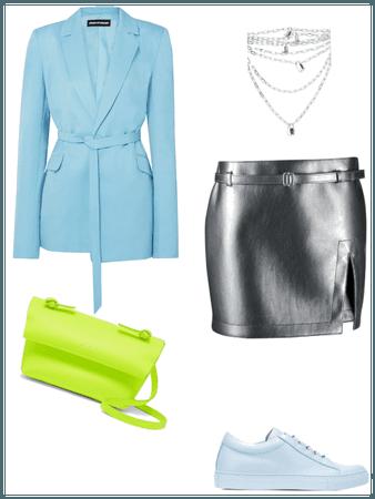 Spring outfit Neon/Aqua